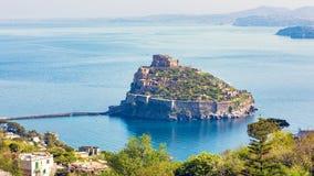 Aragonese Castle, Ischia Island, Italy stock photo