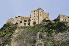 Aragonese Castle on Ischia Island. View of the Aragonese Castle, Ischia Island, Southern Italy Stock Photography