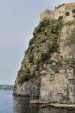 Aragonese Castle on Ischia Island. View of the Aragonese Castle, Ischia Island, Southern Italy Stock Photo