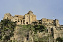 Aragonese Castle on Ischia Island Stock Images