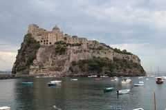 Aragonese castle, Ischia, Italy. Aragonese castle in Ischia island, Italy Stock Photo