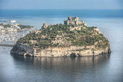 Aragonese castle in Ischia, a little island in the bay of Naples Stock Images