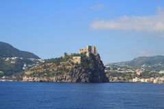 Aragonese castle, Italy. Aragonese castle in Ischia in Italy Royalty Free Stock Photos