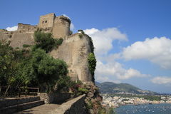 Aragonese castle, Italy. Aragonese castle in Ischia island in Italy Royalty Free Stock Image