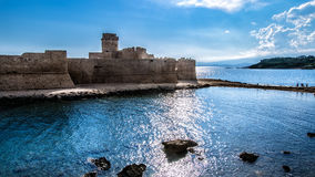 Aragonese castle. Le Castella's castle, Italy Royalty Free Stock Photo