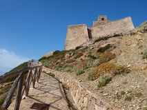 Aragonese castle, Marettimo, Sicily, Italy. The Aragonese castle on Punta Troia, Isle of Marettimo, Trapani province, Sicily, Italy Royalty Free Stock Photo