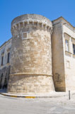 The Aragonese Castle of Martano. Puglia. Italy. Stock Images