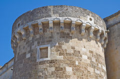 The Aragonese Castle of Martano. Puglia. Italy. Stock Photo