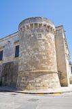 The Aragonese Castle of Martano. Puglia. Italy. Stock Image