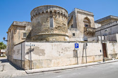 The Aragonese Castle of Martano. Puglia. Italy. Royalty Free Stock Photos