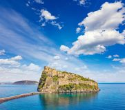 Aragonese Castle is most visited landmark near Ischia island, It. Aragonese Castle or Castello Aragonese is most visited landmark and tourist destination near Royalty Free Stock Photo