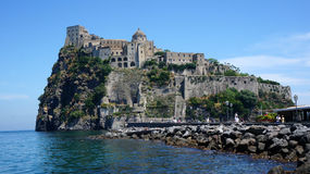 Aragonese castle. Near Ischia island Royalty Free Stock Images