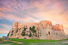 Aragonese Castle in Ortona, Abruzzo, Italy. The old castle (Castello Aragonese) overlooking the sea at sunset in Ortona, Abruzzo, Italy Stock Images