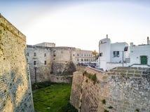 Aragonese castle in Otranto, Apulia, Italy. Otranto with historic Aragonese castle in the city center, Apulia, Italy Stock Photos