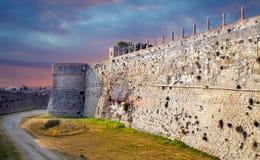 Aragonese Castle. In Otranto, Italy Stock Photos