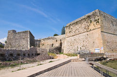 The Aragonese Castle of Otranto. Puglia. Italy. Perspective of the Aragonese Castle of Otranto. Puglia. Italy Stock Images