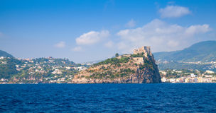 Aragonese Castle on rocky island, Ischia Royalty Free Stock Image