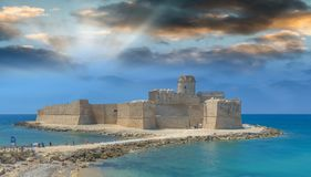Aragonese Castle at sunset, Le Castella, Calabria - Italy.  Stock Image
