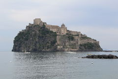 Aragonese Castle Via Pontile Aragonese Ischia island Italy. Aragonese Castle can be reached Via Pontile Aragonese Ischia island Italy royalty free stock photos