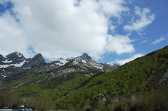 Aragonese Pyrenees. Mountains of Aragonese Pyrenees in north of Spain Stock Photos