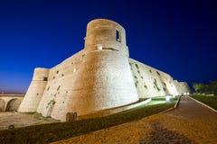 Aragonese slott i Ortona, Italien Arkivfoto