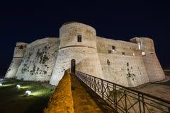 Aragonese slott i Ortona, Italien Arkivbild