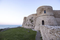 Aragonese slott i Ortona, Italien Arkivbilder