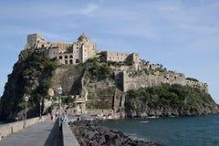 Aragonese slott, Ischia Italien royaltyfri bild