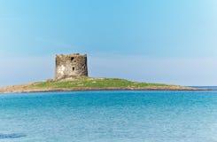 Aragonese tower in Stintino. Aragonese tower in La Pelosa beach, Stintino Royalty Free Stock Image