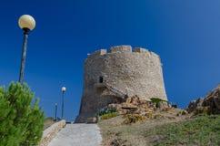Aragonese watch tower, Sardinia Stock Photos
