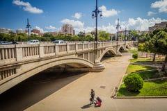 Aragonien-Brücke Valencia, Spanien Stockfoto