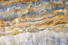 Aragonit ściana w naturze, surowy materiał Fotografia Royalty Free