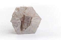 Aragonite на белой предпосылке Стоковая Фотография RF