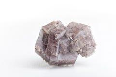 Aragonite на белой предпосылке Стоковое фото RF