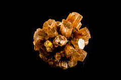 Aragonite Mineral Cluster. Cluster of twinned aragonite whitch is known as the Anger Management Stone.  This rock promotes healthy skin, bones and tissue Royalty Free Stock Photography