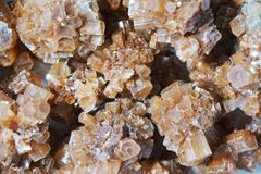 Aragonite mineral collection Stock Image