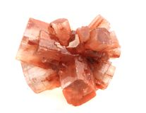 Aragonite mineral. Isolated on the white background Stock Photos