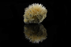 Aragonite. Sample of a beautiful natural Aragonite specimen isolated on black background Royalty Free Stock Photos