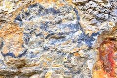Aragonite vägg i naturen, råvara Royaltyfria Foton