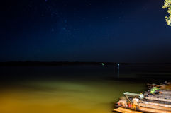 Araguaia River. In the night, Para state, Brazil Royalty Free Stock Photo