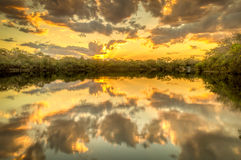 Araguaia River at the sunset Stock Image