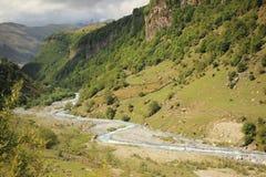 Aragvi河(乔治亚) 库存图片