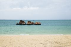 Araha beach in Okinawa, Japan. Araha beach at summer day in Okinawa, Japan Royalty Free Stock Image