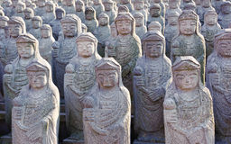Arahan statues at  Gwaneumsa buddhist Temple. 1000 arahan statues at  Gwaneumsa buddhist Temple at Jeju Island Korea Stock Photo