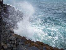 Arahoho通风孔,塔希提岛,法属玻里尼西亚 库存照片