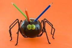 Araignée avec des crayons Image libre de droits
