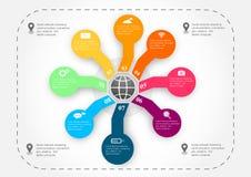 Araignée d'Infographic Images stock
