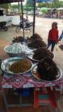 Araignée de friture dans le combodia Photo libre de droits