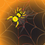 Araignée de Halloween Photo libre de droits