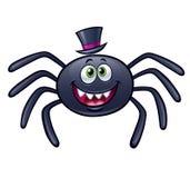 Araignée de sourire avec le chapeau supérieur Image stock